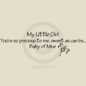 My-Little-Girl-baby-of-Mine-With-Bee-Vinyl-Words-Walls-Decal-Lettering ...