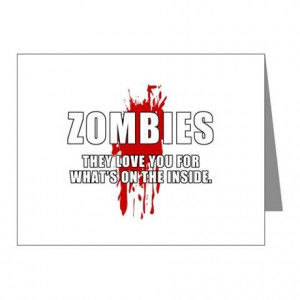 ... You Cards & Note Cards > Zombie Humor (Love) Note Cards (Pk of 10