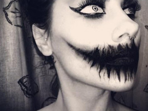 Zebra Eye Makeup For Halloween