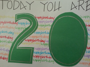 Happy 20th Birthday Wishes Night of my 20th birthday,