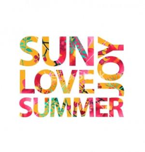 Inspirational quote sun love summer joy vector
