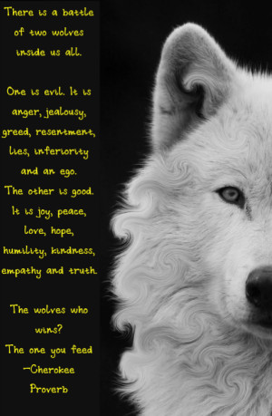 wolves #love #anger #cherokee proverb