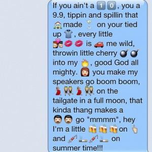 Drunk on you emoji text