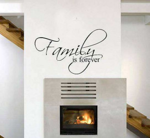Family is forever wall quote wall stickers