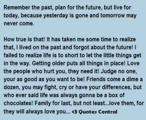 Remember The Past, Plan