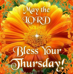 Thursday Blessings!
