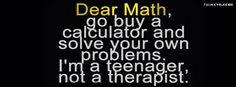 Dear Math Quotes Dear math - facecove.com
