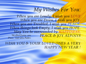Wishes For You for New Year 2013 When you are Lonely, I wish you LOVE ...