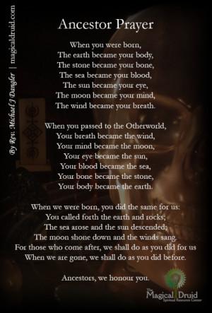 samhain prayer