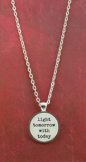Elizabeth Barrett Browning Quote Necklace by ShakespearesSisters, $9 ...