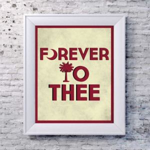 Forever to Thee Quote South Carolina Gamecocks by FourthandInches, $20 ...