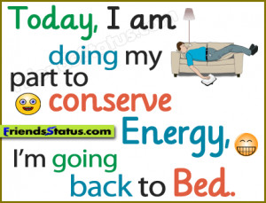 My part to conserve energy