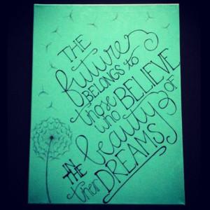 Canvas dorm art. Pinterest inspired!