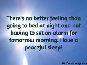 Have a peaceful sleep...