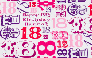 Home / Personalised Wrapping Paper / 18th Birthday Girl Gift Wrap