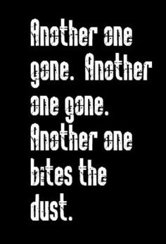 Queen - Another One Bites the Dust - song lyrics, song quotes, music ...