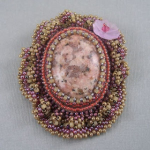 Bead Embroidered Brooch by Elegance and Sparkles