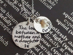 The Love between a mother and a daughter is forever.