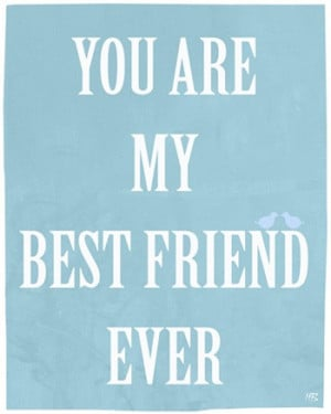 Best friends art print, emotional quote wall art, gift for a friend ...