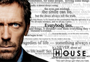 tv quotes dr house hugh laurie everybody lies 1440x990 wallpaper ...