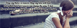 yet through it all everyone thinks I'm fine Facebook Cover