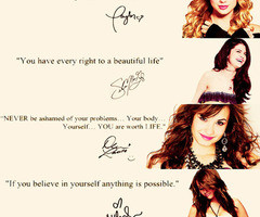 taylor swift, demi lovato, miley cyrus, quotes - inspiring picture on ...