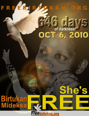 ... is Free!! Accorded a hero's welcome!! – Eskinder Nega Addis Ababa