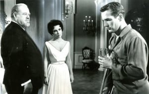 Burl Ives, Elizabeth Taylor and Paul Newman in Cat on a