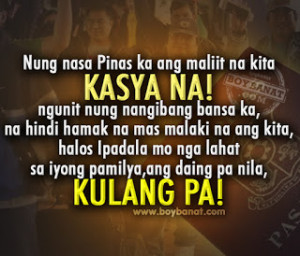 Tagalog OFW Quotes and Sayings