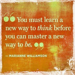 Marianne Williamson New thinking
