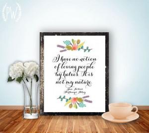 Jane Austen Quote Print Printable art wall by PrintableWisdom, $5.00