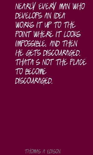 Discouraged quote #1