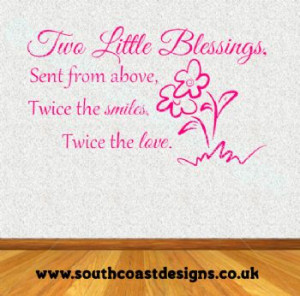Two little blessings wall art, perfect for any twins/sisters bedroom ...
