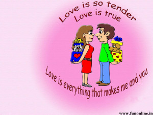Animated Romantic Love Quote Wallpaper
