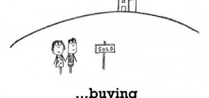 Happiness is, buying your first home.