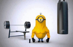 ... Me - Bodybuilding Version haha even the minions are working out