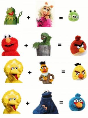 Funny photos funny angry birds sesame street