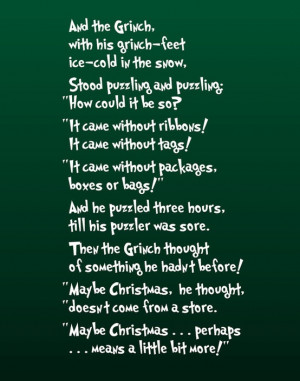 How The Grinch Stole Christmas Quotes