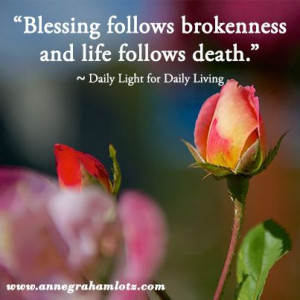 ... life follows death | Anne Graham Lotz | Daily Light for Daily Living