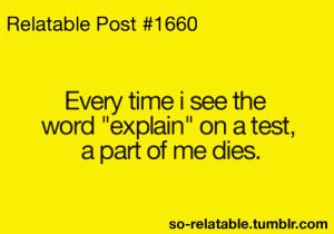funny quote quotes school high school explain test