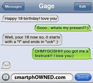 Happy 18th birthday quotes funny