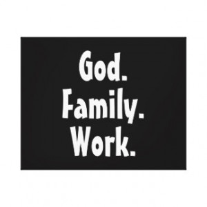 God Family Work Order Quote Gallery Wrap Canvas