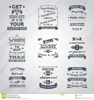 ... inspirational quotes black labels set isolated vector illustration