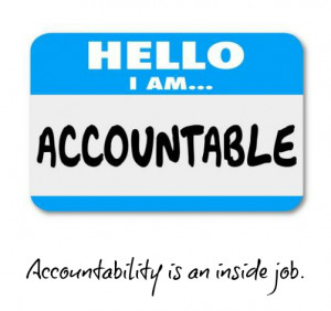 Be Accountable for Your Actions