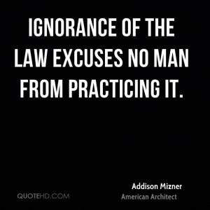 Addison Mizner Legal Quotes