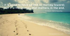 ernest hemingway quote on journeys