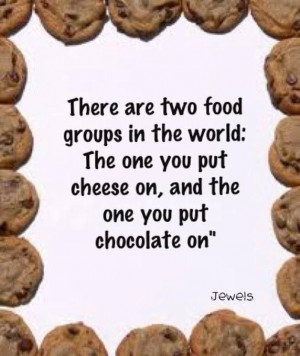 world food groups: cheese and chocolate