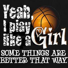 Play Like a Girl - Basketball Tee on CafePress.com More