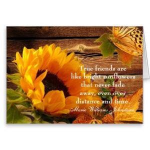 Friend's Birthday Card, Rustic Fall Sunflower