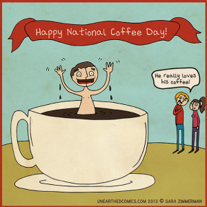 National Coffee Day Cartoon